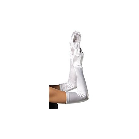 Long gants blanc satin